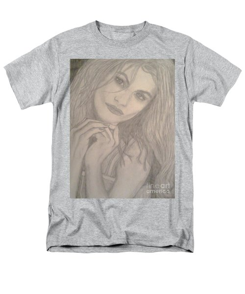 Men's T-Shirt  (Regular Fit) featuring the drawing Model by Christy Saunders Church