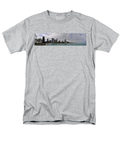 Men's T-Shirt  (Regular Fit) featuring the photograph North Of Navy Pier From The Series Chicago Skyline by Verana Stark