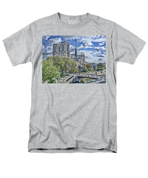 Men's T-Shirt  (Regular Fit) featuring the photograph Notre Dame by Hugh Smith