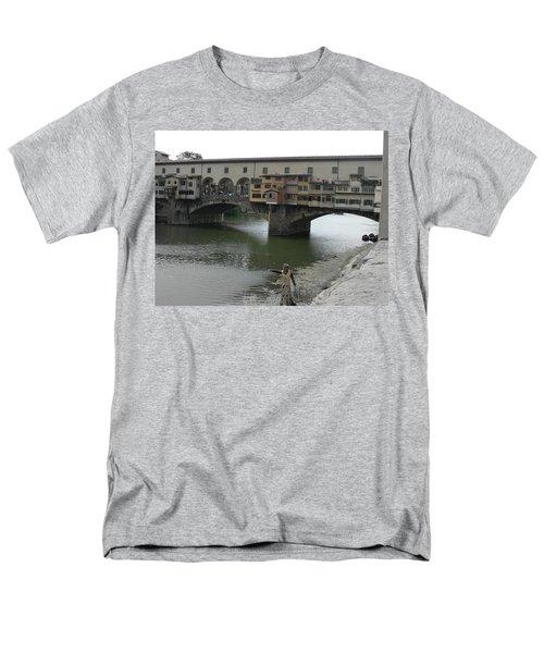 Men's T-Shirt  (Regular Fit) featuring the photograph Ponte Vecchio by Laurel Best