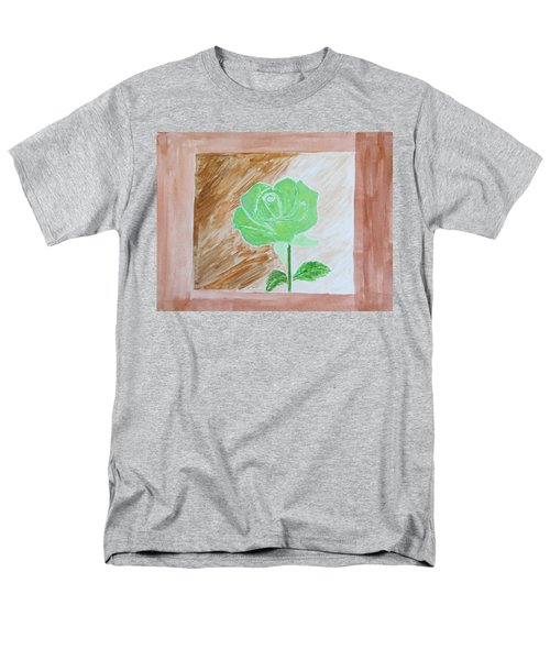 Men's T-Shirt  (Regular Fit) featuring the painting Solitary Rose by Sonali Gangane