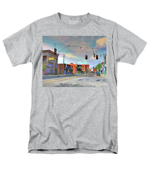 Men's T-Shirt  (Regular Fit) featuring the photograph South Main Street Memphis by Lizi Beard-Ward