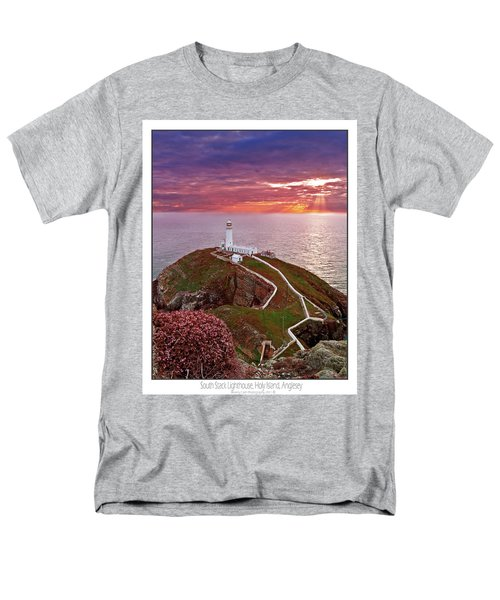 Men's T-Shirt  (Regular Fit) featuring the photograph South Stack Lighthouse by Beverly Cash