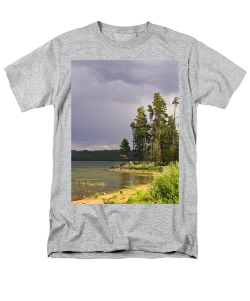 Storm Clouds Over A Lake Men's T-Shirt  (Regular Fit) by Anne Mott