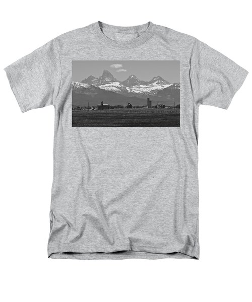 Men's T-Shirt  (Regular Fit) featuring the photograph Tetonia Grain Elevators by Eric Tressler