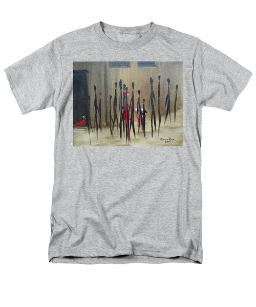 Men's T-Shirt  (Regular Fit) featuring the painting Too Busy To Notice by Judith Rhue