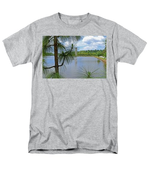 Men's T-Shirt  (Regular Fit) featuring the photograph Tower Thru The Pine by Larry Bishop
