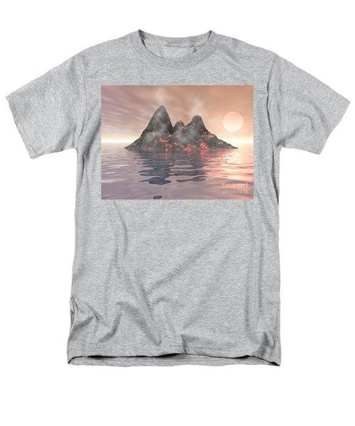 Men's T-Shirt  (Regular Fit) featuring the digital art Volcano Island by Phil Perkins