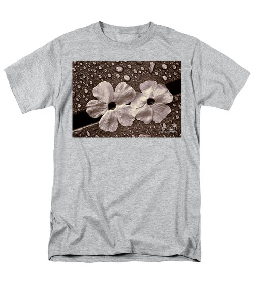 Wet Flowers And Wet Table Men's T-Shirt  (Regular Fit) by Ari Salmela
