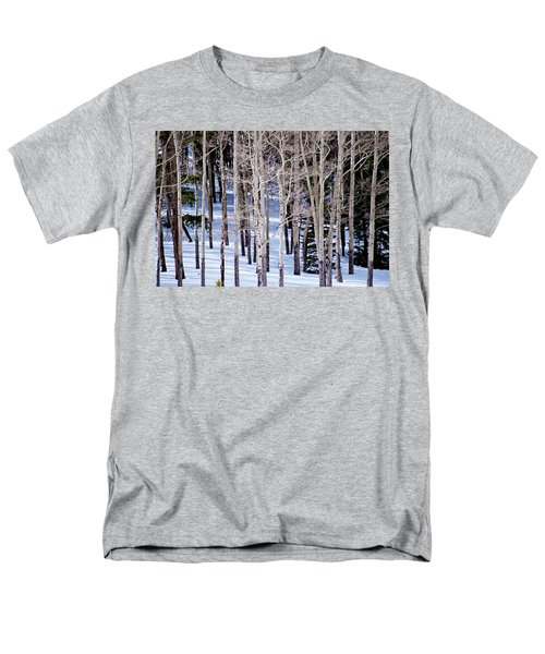 Men's T-Shirt  (Regular Fit) featuring the photograph Winter Aspens by Colleen Coccia