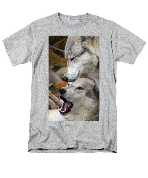 Men's T-Shirt  (Regular Fit) featuring the photograph Wolf Talk by Steve McKinzie