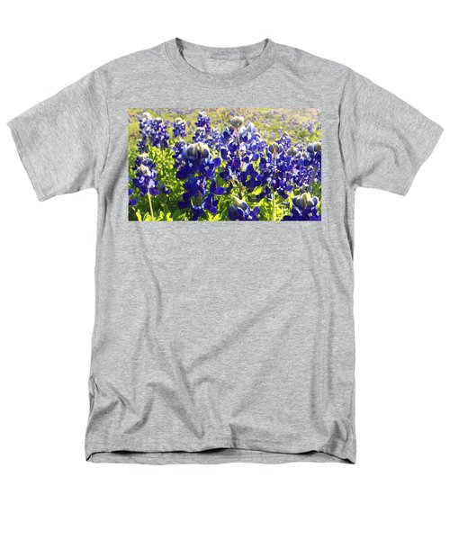 Men's T-Shirt  (Regular Fit) featuring the painting  Bluebonnet Morning by Karen Kennedy Chatham