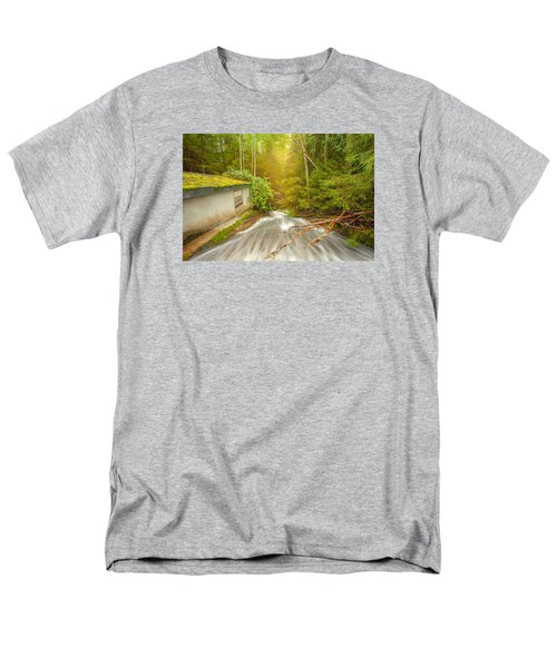 Men's T-Shirt  (Regular Fit) featuring the photograph  In The Woods by Rose-Maries Pictures