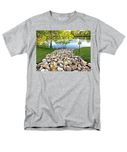 Men's T-Shirt  (Regular Fit) featuring the photograph  Keep Off The Rocks - No.430 by Joe Finney