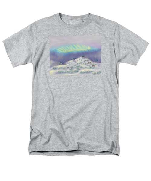 Peaceful Snowy Sunrise Men's T-Shirt  (Regular Fit) by Dawn Senior-Trask