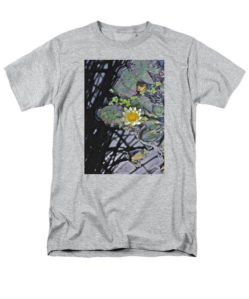 September White Water Lily Men's T-Shirt  (Regular Fit) by Janis Nussbaum Senungetuk