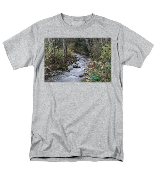 Men's T-Shirt  (Regular Fit) featuring the photograph An Autumn Stream by Jeff Swan