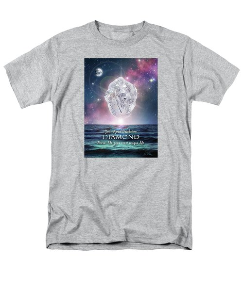 April Birthstone Diamond Men's T-Shirt  (Regular Fit)