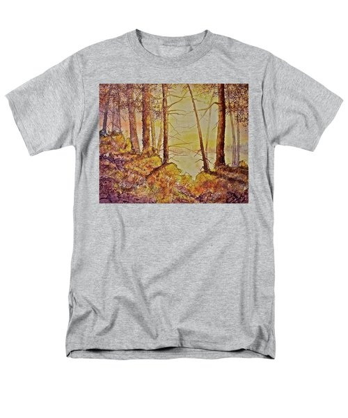 Men's T-Shirt  (Regular Fit) featuring the painting Autumn Glow by Carolyn Rosenberger