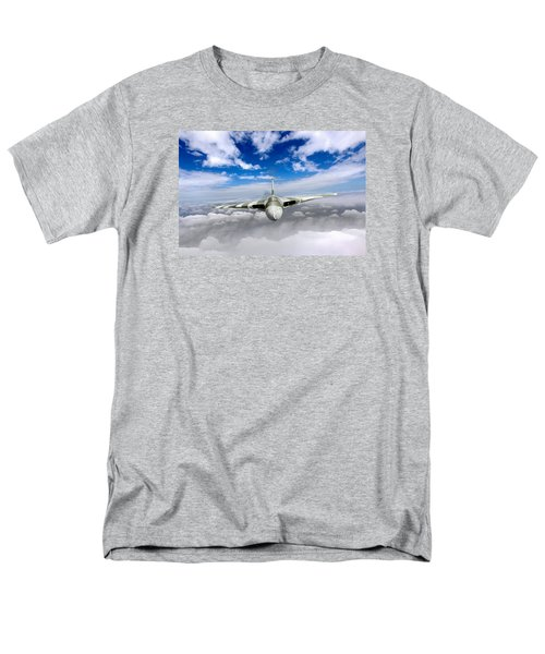 Men's T-Shirt  (Regular Fit) featuring the digital art Avro Vulcan Head On Above Clouds by Gary Eason