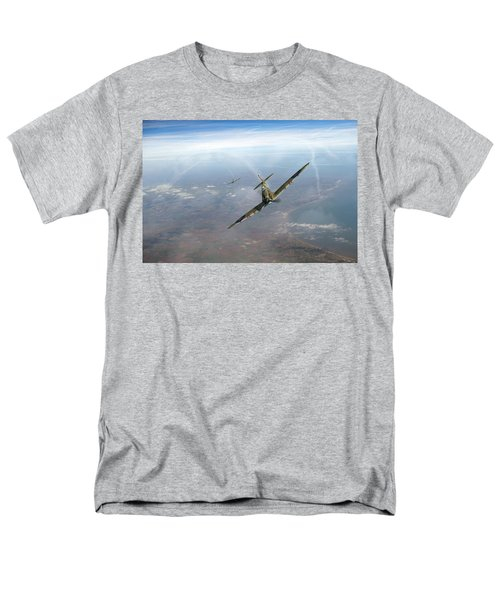 Men's T-Shirt  (Regular Fit) featuring the photograph Battle Of Britain Spitfires Over Kent by Gary Eason