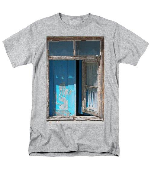 Blue Window Men's T-Shirt  (Regular Fit) by Edgar Laureano