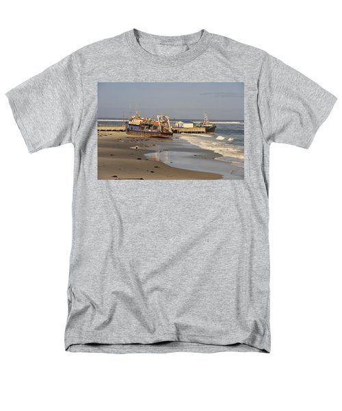 Boats Aground Men's T-Shirt  (Regular Fit) by Patrick Kain