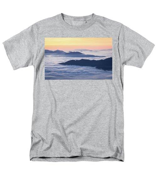 Cataloochee Valley Sunrise Men's T-Shirt  (Regular Fit) by Serge Skiba