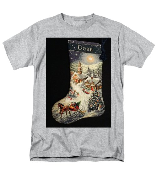 Men's T-Shirt  (Regular Fit) featuring the photograph Cross-stitch Stocking by Farol Tomson