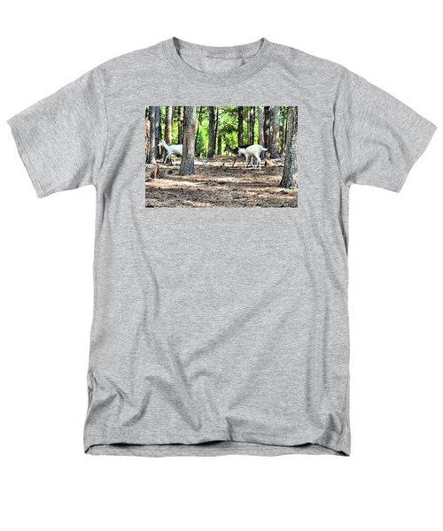 Deer In The Woods Men's T-Shirt  (Regular Fit) by James Potts