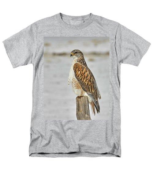 Ferruginous Hawk Men's T-Shirt  (Regular Fit) by Doug Herr