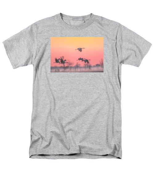 Men's T-Shirt  (Regular Fit) featuring the photograph Flying Into The Light And Fog by Kelly Marquardt