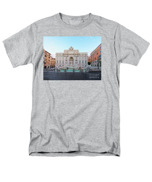 Fountain Di Trevi And Sunrise, Rome Men's T-Shirt  (Regular Fit) by Anastasy Yarmolovich