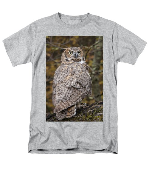 Great Horned Owl Men's T-Shirt  (Regular Fit) by Tyson Smith