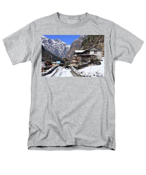 Himalayan Mountain Village Men's T-Shirt  (Regular Fit) by Aidan Moran