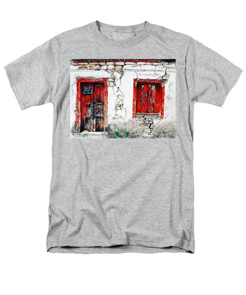 Men's T-Shirt  (Regular Fit) featuring the painting House For Sale by Maria Barry