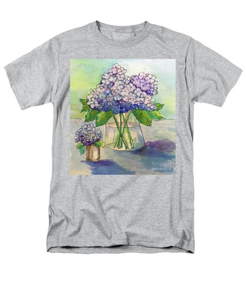 Men's T-Shirt  (Regular Fit) featuring the painting Hydrangea  by Rosemary Aubut