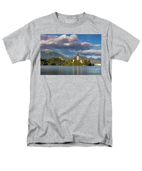 Men's T-Shirt  (Regular Fit) featuring the photograph Lake Bled Evening by Brian Jannsen