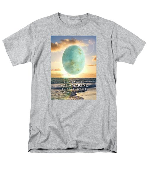 March Birthstone Aquamarine Men's T-Shirt  (Regular Fit)