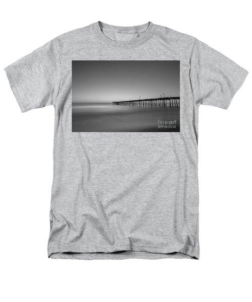 Nags Head Fishing Pier Sunrise Men's T-Shirt  (Regular Fit) by Michael Ver Sprill