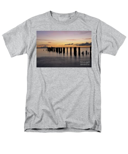 Men's T-Shirt  (Regular Fit) featuring the photograph Old Naples Pier by Kelly Wade
