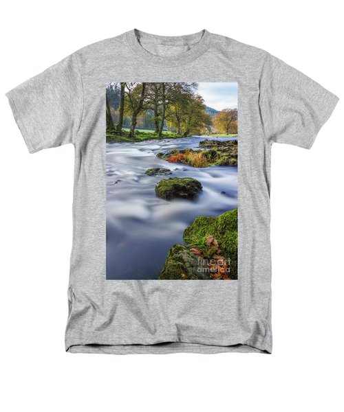 River Llugwy Men's T-Shirt  (Regular Fit) by Ian Mitchell