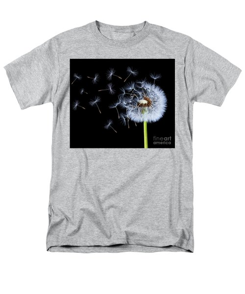 Men's T-Shirt  (Regular Fit) featuring the photograph Silhouettes Of Dandelions by Bess Hamiti