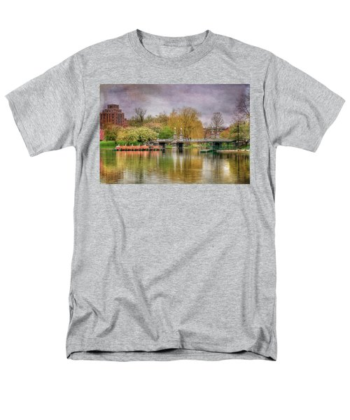 Men's T-Shirt  (Regular Fit) featuring the photograph Spring In The Boston Public Garden by Joann Vitali