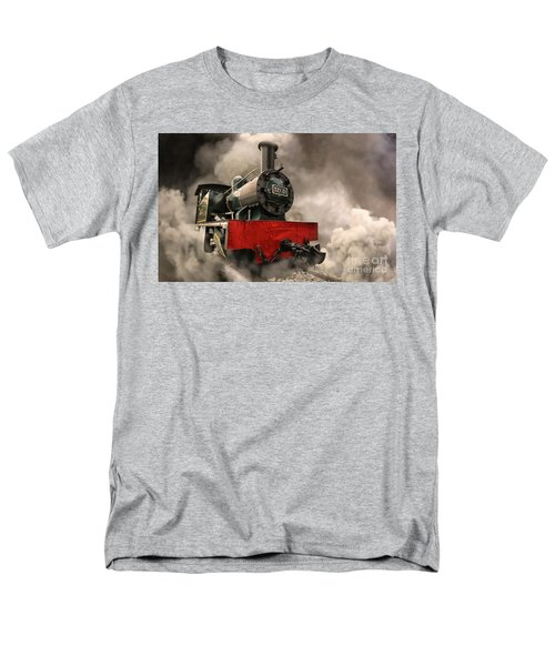 Men's T-Shirt  (Regular Fit) featuring the photograph Steam Engine by Charuhas Images