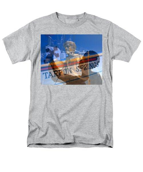 Men's T-Shirt  (Regular Fit) featuring the photograph Tarpon Springs Florida Mash Up by David Lee Thompson