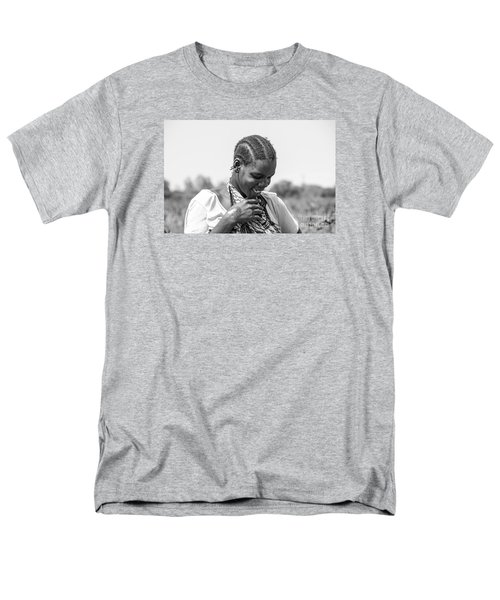 Men's T-Shirt  (Regular Fit) featuring the photograph The Shy One by Pravine Chester
