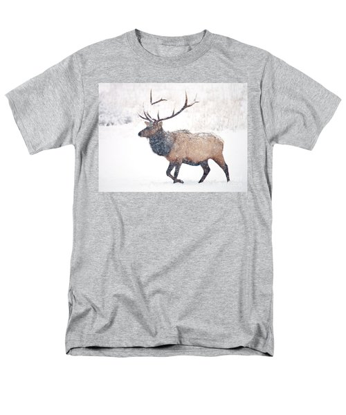 Men's T-Shirt  (Regular Fit) featuring the photograph Winter Bull by Mike Dawson