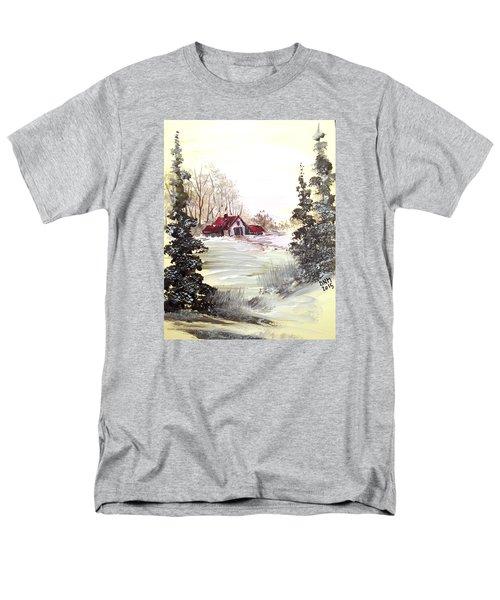 Winter Landscape Men's T-Shirt  (Regular Fit) by Dorothy Maier