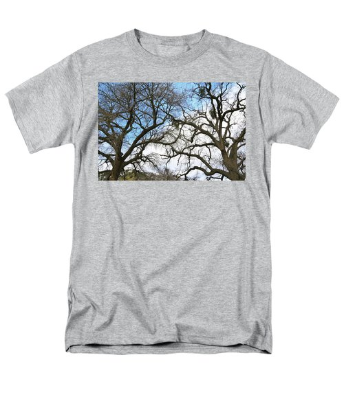 Men's T-Shirt  (Regular Fit) featuring the photograph Winter Trees At Fort Tejon Lebec California  by Floyd Snyder